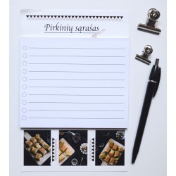 Magnetic Notepad Shopping List Baklava