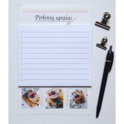 Magnetic Notepad Shopping List Breakfast