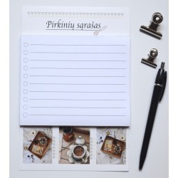 Magnetic Notepad Shopping List Coffee
